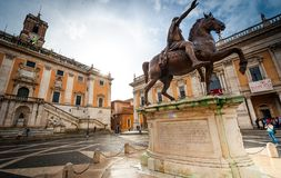 Piazza del Campidoglio Royalty Free Stock Photo