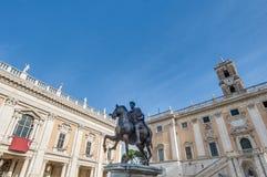 Piazza del Campidoglio in Rome, Italy. Stock Image