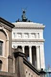 Piazza del Campidoglio vierkant, Rome Stock Afbeelding