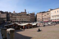 Piazza del campio in Siena - Italy royalty free stock photography