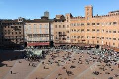 piazza del Campo 免版税库存图片