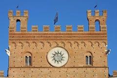 Piazza del Campo con Palazzo Pubblico, Siena, AIE Fotografía de archivo