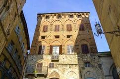 Piazza del Campo en Siena Fotos de archivo libres de regalías