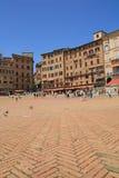 Piazza del Campo i stadens centrum Siena Italy Royaltyfri Fotografi