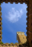 Piazza Del Campo jest głównym placem Siena z widokiem na Palazzo Pubblico Zdjęcie Stock