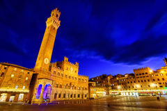 Piazza del Campo in the old town Siena, Tuscany, Italy Stock Image