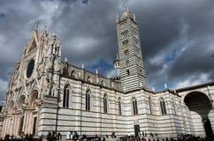 Piazza del Campo på Siena Royaltyfria Foton