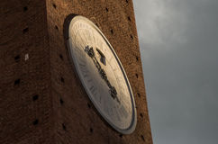 Piazza del Campo på Siena Royaltyfri Foto
