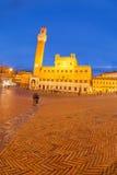 Piazza del Campo with Palazzo Pubblico Royalty Free Stock Photos