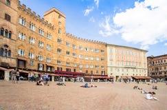 Piazza del Campo with Palazzo Pubblico, Siena, Italy Royalty Free Stock Photos