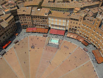 Piazza del Campo Plaza in Siena, Italy Royalty Free Stock Photo