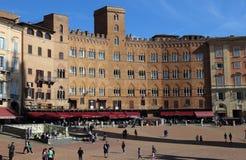 Piazza Del Campo rynek w Siena, Włochy Fotografia Royalty Free