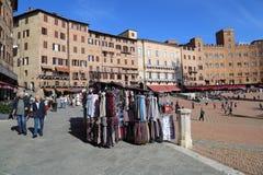 Piazza Del Campo rynek w Siena, Włochy Zdjęcie Royalty Free