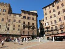 Piazza del Campo, Siena Royaltyfri Bild