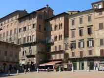 Piazza del Campo, Siena Arkivfoton