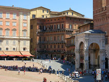 Piazza del Campo, Siena Royaltyfria Foton