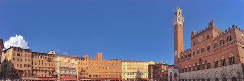 Piazza del Campo Siena arkivbild