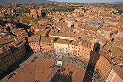 Piazza del Campo, Siena Royalty-vrije Stock Afbeeldingen