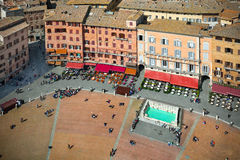 Piazza del Campo Siena Stock Images