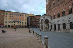 Piazza Del Campo in Siena, Italy stock photography