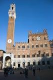 Piazza del Campo - Siena Italië Stock Foto's
