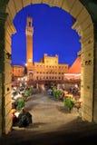 Piazza del Campo, Siena, Italië Stock Foto's