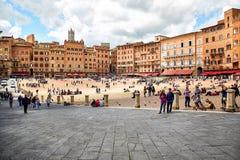 Piazza del Campo, Siena, Italië royalty-vrije stock afbeelding