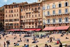 Piazza del Campo, Siena, Italië royalty-vrije stock foto's