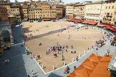 Piazza del Campo a Siena, Italia Fotografie Stock