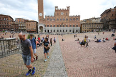 Piazza del Campo, Siena, Italia Fotos de archivo