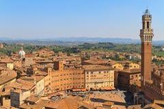 Piazza Del Campo, Siena, Italien Lizenzfreies Stockbild