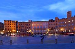 Piazza del Campo, Siena - Italien Royaltyfria Foton