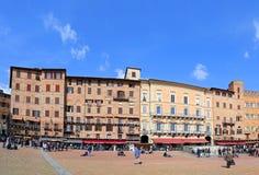 Piazza del Campo, Siena - Italien Arkivbilder