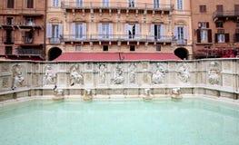 Piazza Del Campo, Siena, Italien Stockfotos