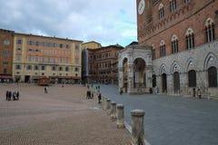 Piazza Del Campo in Siena, Italien stockfotografie