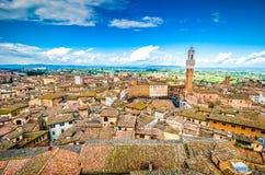 Piazza del Campo, Siena, Italien, Tuscany royaltyfria foton