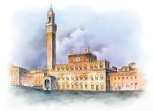 Piazza del Campo in Siena, Italy Royalty Free Stock Images