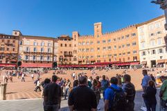 At Piazza del campo, Siena, Italy Stock Photography