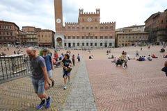 Piazza del campo, Siena, Italy Stock Photos
