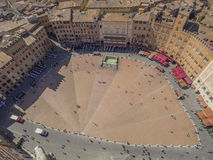 Piazza del Campo in Siena, Toscanië Royalty-vrije Stock Afbeelding