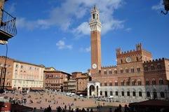 Piazza del Campo in Siena Stock Image
