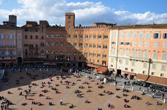 Piazza del Campo in Siena Royalty Free Stock Photography