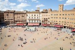 Piazza del campo, Siena, Tuscany, Italien Royaltyfria Bilder