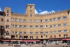 Piazza del campo, Siena, Tuscany, Italien Royaltyfria Foton
