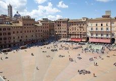 Piazza del campo, Siena, Tuscany, Italien Royaltyfri Foto