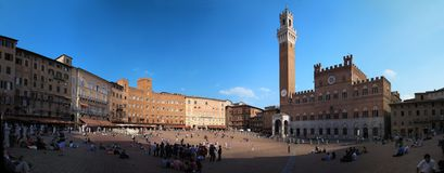 Piazza del Campo in Siena in Tuscany, Italy Royalty Free Stock Photo