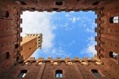 Piazza del campo in Siena, Tuscany, Italy Royalty Free Stock Images