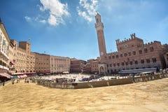 Piazza del Campo Siena,Tuscany,Italy Stock Photography