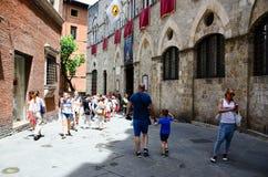 Piazza Del Campo Siena, Tuscany, Włochy obraz stock