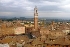 Piazza del Campo, Sienna, Tuscany, Italy Royalty Free Stock Images